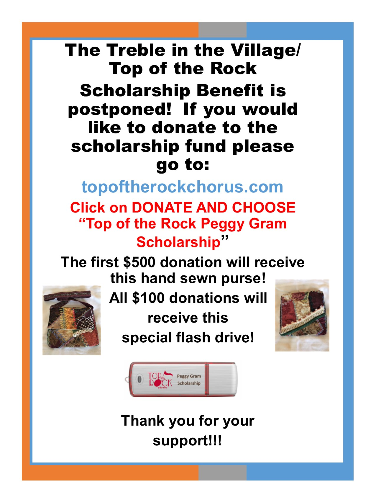 Support TOTR Peggy Gram Scholarship