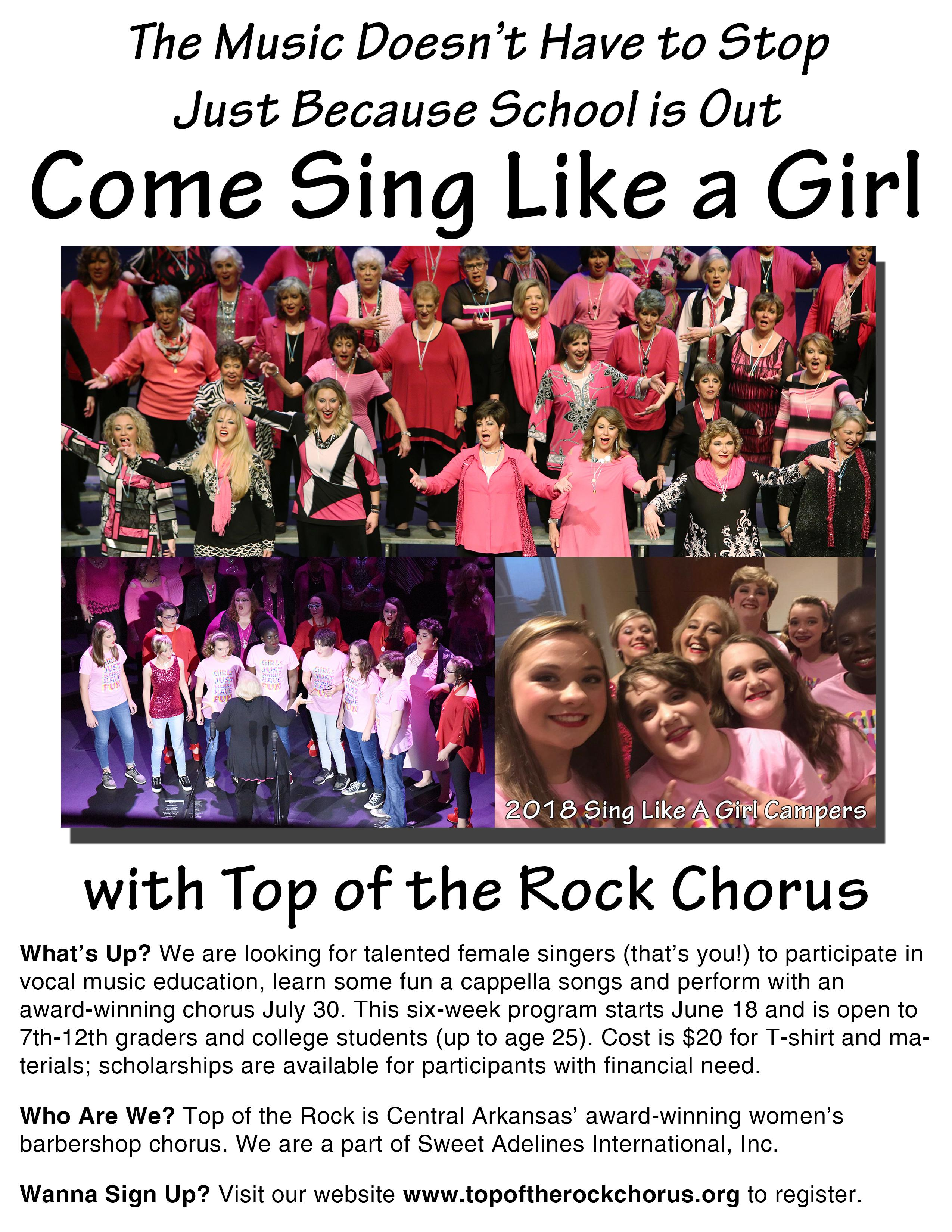 Sing Like A Girl Summer Camp