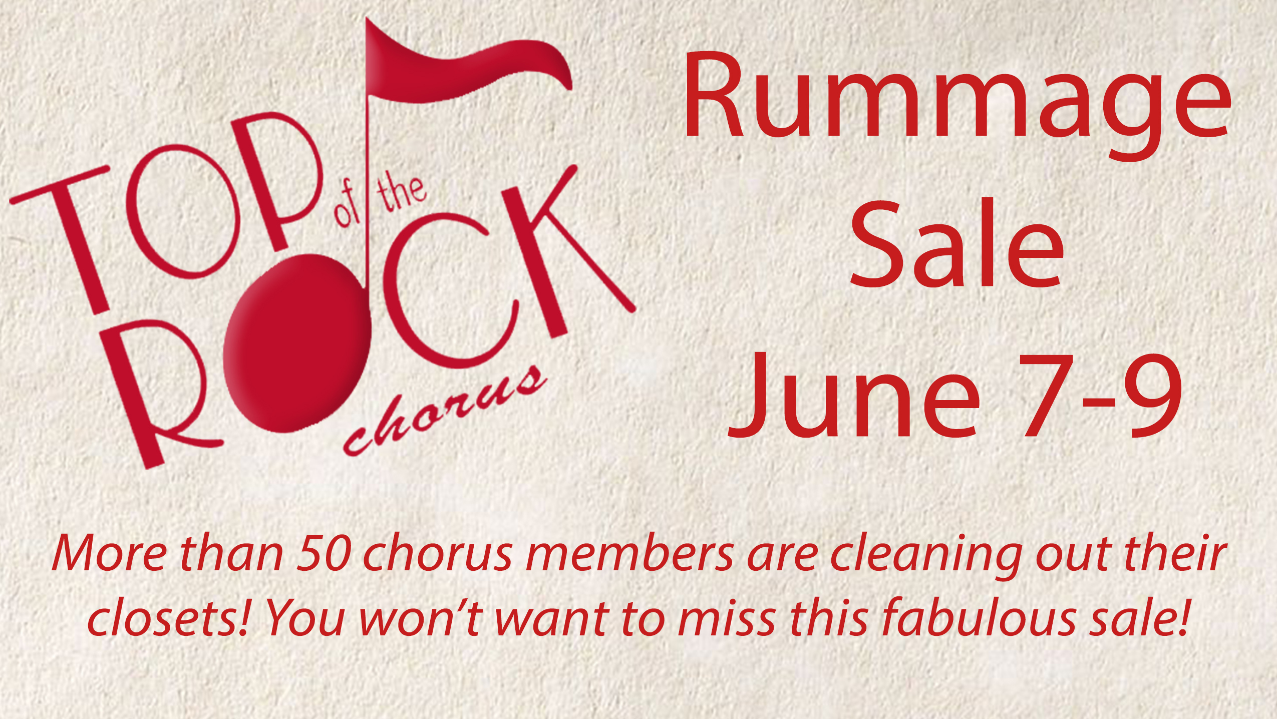 TOTR Rummage Sale June 7-9