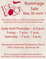 Top of the Rock Rummage Sale May 30-June 1